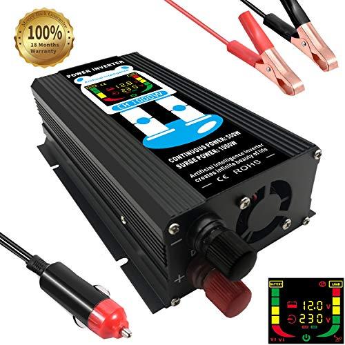 Chenguang Convertisseur 12v 220v Transformateur 1000W avec Port USB et Ecran LCD pour Voiture Onduleur de Tension