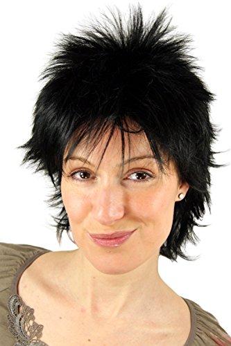 Perücke, Wig, schwarz, frech, 80er, NDW, 26155-1 25cm (Damen-kurzhaarschnitt)