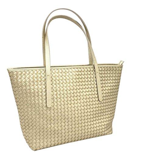 Frauen Einfach Lässig Tasche Umhängetasche Diagonal Paket Gold