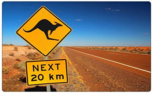 Australien Wüste Schild Kangaroo Wandtattoo Wandsticker Wandaufkleber R1689 Größe 60 cm x 90 cm