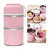 HaRvic Stainless Steel 2 Layer Food Storage Container for Kids Multi Color