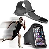 (Grey) Sony Xperia E5 étuiRéglable sports Armband Case Cover Pour Courir Jogging Vélo Gym By Fone-Case®