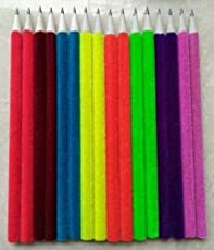 Ecofriendly Multi Color Velvet Pencils| Soft To Hold Easy To Write| Light Weight|Return Gift (40)