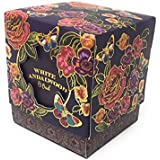 """Scrafts 3"""" White Sandlewood Highly Fragranced/Scented Exotic Aroma Natural Wax Votive Glass Candle In Exclusive Designer Box For Home Décor/Gifts/Spa/Meditation."""