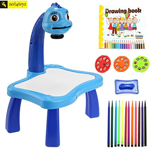 Zest 4 Toyz 3 in 1 Kids Super Fun Drawing Projector - Table Lamp, Projector, Painting