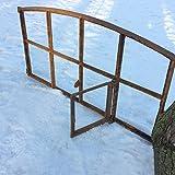 Antikas | Eisenfenster mit Öffnung | Höhe: 44,5 cm - Breite: 74,5 cm | als Stall-Fenster oder Garagenfenster