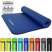 Gymnastikmatte Premium inkl. Übungsposter + Tragegurt | Hautfreundliche - Phthalatfreie Fitnessmatte 190 x 60 x 1,5 cm oder 190 x 100 x 1,5 cm - in Verschiedenen Größen und Farben | Yogamatte