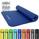 Gymnastikmatte Premium | inkl. Übungsposter | Hautfreundliche - Phthalatfreie Fitnessmatte - Königsblau - 190 x 100 x 1,5 cm | Yogamatte