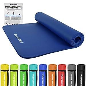 Gymnastikmatte Premium | inkl. Übungsposter | Hautfreundliche - Phthalatfreie...