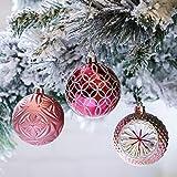 Victor's Workshop Weihnachtskugeln 16tlg.7cm Plastik Christbaumkugeln Set Christbaumschmuck für Weihnachtsbaum Dekoration Weihnachtsdeko Mysteriöser Palast Thema rosa lila Silber MEHRWEGVERPACKUNG
