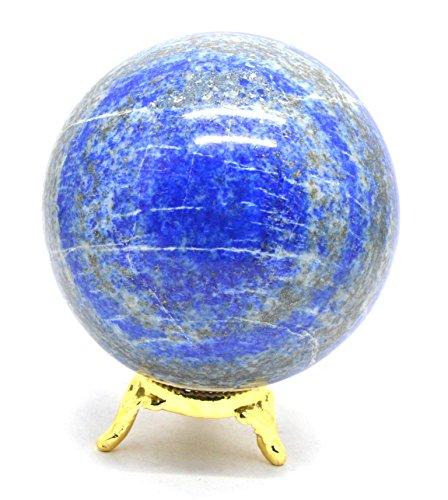Heilung Kristalle Indien Natur Edelstein-Kugel, Lapislazuli, Chakra Bonded, 50
