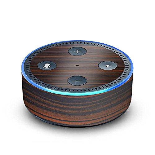 amazon Echo Dot 2.Generation Folie Skin Sticker aus Vinyl-Folie Makassar Holz Look