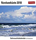 Nordseeküste - Kalender 2018: Sehnsuchtskalender, 53 Postkarten