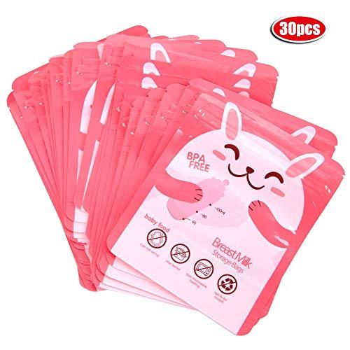 Bolsa de leche materna con 30pcs 100 ml Pre-esterilizadas Bolsas portátiles de almacenamiento de leche...