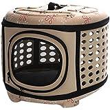 Transporttasche Tragetasche für Haustiere, iTECHOR Hundetransportbox Faltbar Hunde Katze Transportbox, Hundebox Reisebox ,Hunde Katzen Box-L (46×35×30cm)