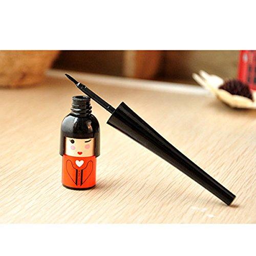 1X Style Japonnais Waterproof Eyeliner Pinceau Liquide pour les Sourcils Kawayi Mignonne Forme Outil Cosmétiques(Random Color)