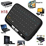 LinStar Wireless Keyboard, 2.4GHz Rechargeable Mini Keyboard with Full Touchpad Fernbedienung and Mouse Combo for Android TV Box, PC
