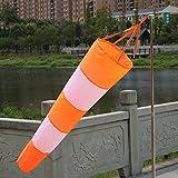 Fastar Windsack, wetterfest, aus Ripstop-Gewebe, mit reflektierenden Streifen, zur Windmessung am Flughafen (80 cm)