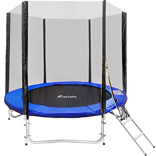 LS-400-S LifeStyle ProAktiv Trampolino da giardino 400 cm senza rete di sicurezza New