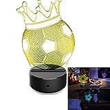 Bescita Fußball Licht, Optische 3D-Illusion, LED Schreibtisch Tisch Nachtlicht, 7 Farben, USB-Nachtlicht | Kreatives Design Dekoratives Licht | 3D Pädagogische Spielzeug, Kind Geschenk (B)