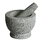 Songmics Mörser Mit Stößel aus massiv Granit 15 cm Stein