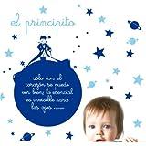 MYVINILO - Vinilo infantil - el principito azul oscuro / azul claro (150 x 150 cm)
