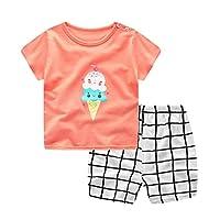 Ancia Unisex Baby Boys Girls 2-Piece Cotton Pajama Sleepwear Outfits Set