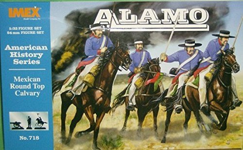 mexican-round-hat-cavalry-at-the-alamo-american-history-series-1-32-plastic-soldiers-by-imex