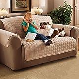 couch schutz sofa schutzbezug gesteppt wasserabweisend 2er sofa beige. Black Bedroom Furniture Sets. Home Design Ideas
