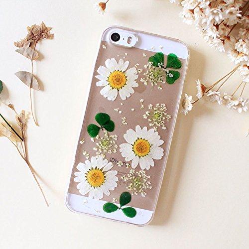 Superbe Tournesol iPhone 6S Étui iPhone 6étui sur mesure pour femmes véritable fleur et coque iphone 6/6S 11,9cm
