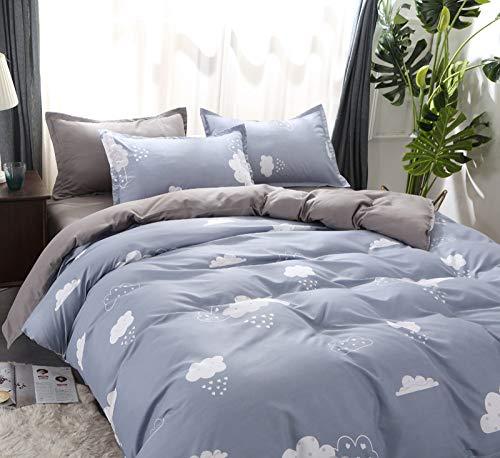 LSZA Bettwäsche-Sets Bettwäschesätze Single Europe Bettwäschesatz Cloud, Bettwäsche Bettwäschesatz Enthalten Bettbezug Bettlaken Kissenbezug-Sky blue-4PCS Queen