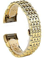 Für Fitbit Laden 2Strap, wearlizer Ersatz Bands mit Strass Träger für Fitbit Laden HR zwei, silberfarben/Schwarz/Rose Gold/Gold