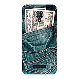 Stylish Dollars Jeans Back Case Cover for Micromax Canvas Spark Q380