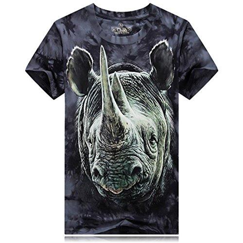 Men's Tie Aliexpress For Europe Cotton Short Sleeve Tee Short Rhinoceros