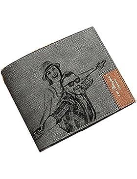 Cartera personalizada de cuero de la cartera de la foto del Mens - Un regalo personalizado perfecto del cumpleaños...