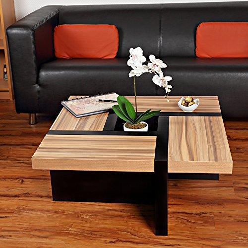 Directachat56 Table Basse désign, MODÈLE Oregon, Marron/Blanc