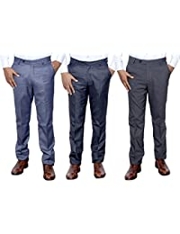 Indistar Combo Offer Mens Formal Trouser (Pack Of 3) - B01JRQYO3Q