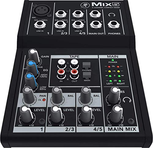 Mackie 25811 Mix5 5-Channel Compact DJ Mischer