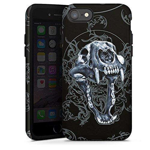 Apple iPhone X Silikon Hülle Case Schutzhülle Puma Totenkopf Pumakopf Tough Case glänzend