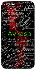 Avkash (Leisure) Name & Sign Printed All over customize & Personalized!! Protective back cover for your Smart Phone : Apple iPhone 7