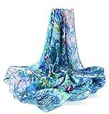 Prettystern P773-90cm pura seta stampa pittura di arte del panno - Claude Monet - le ninfee