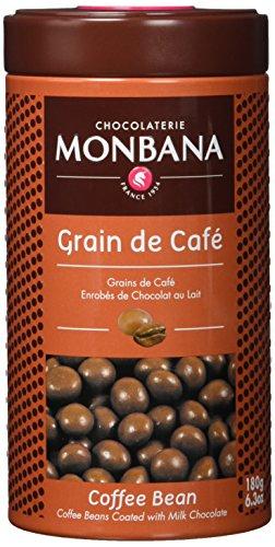 """Monbana Geschenk Dose """"Grain de Caf▒"""" - Schokoladen ummantelte Kaffeebohnen, 1er Pack (1 x 180 g)"""