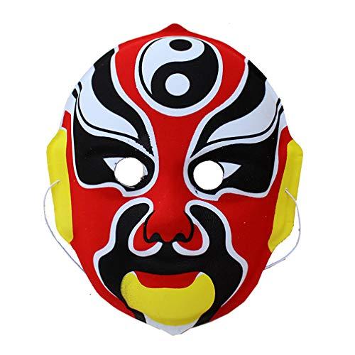 book Maske schmückt Halloween Kindergarten 6 Teil der Show Prop Restaurant Tea Room Layout chinesischen Wind ()