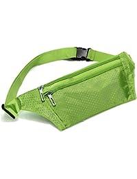 TOOGOO(R) Uni Bum Waist Bag Handy Travel Sport Fanny Money Wallet Pack Belt Zip Pouch - Green