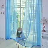 Moginp Vorhang,1 Stück Vorhänge Reine Farbe Curtains Tulle Tür Fenster Drape Panel Sheer Gardinen Home (K)