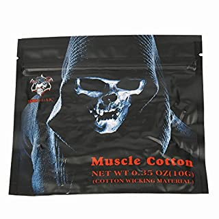 Demon Killer E Cigarette Cotton, E Cig Heating Wick Vaping Cotton for RBA / RTA / RDA Atomiser, Vacuum Packaging 10 Pieces