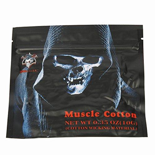 Vape Cotton Elektronische Zigarette Form Wick Vaping Baumwolle für RBA / RTA / RDA Coil Rebuilding Schlauch/Schnur-Form extrem saugfähig haltbar 10 Stück
