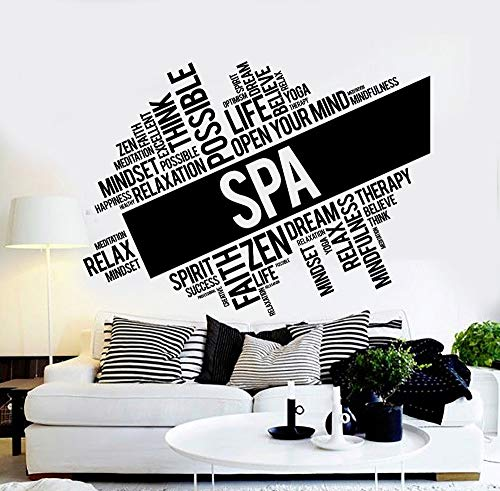 Adesivi Murali Font Di Carattere Beauty Font Salon Stickers Murali Spa Salon Massage Relax Zen...