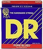 DR Strings PURE BLUES 9-46 Jeu de Cordes pour Guitare Electrique