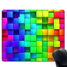 Color Small Squares - Mauspad Premium-Mauspad aus Naturkautschuk - Mauspad